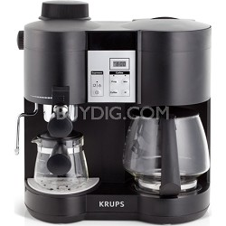 Coffee Maker and Espresso Machine Combination - Black
