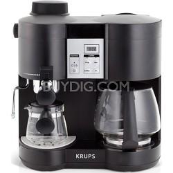 Coffee Maker and Espresso Machine Combination - Black
