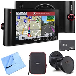 "nuviCam LMTHD 6"" GPS w/ Dashcam, Maps, HD Traffic Magnetic Mount Deluxe Bundle"