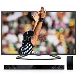 """55"""" Class Cinema 3D 1080P 120HZ LED TV with Dual Core - Smart TV (55LA6200)"""