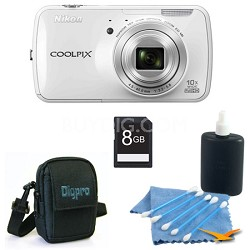 COOLPIX S800c 16MP 3.5 inch LED White Digital Camera Kit