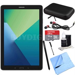 Galaxy Tab A 10.1 Tablet PC Black w/ S Pen, WiFi & Bluetooth w/ 32GB Card Bundle