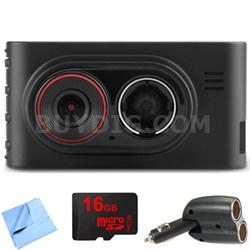 Dash Cam 35 Standalone HD Driving Recorder with GPS 16GB microSD Card Bundle