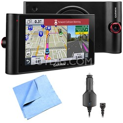 "nuviCam LMTHD 6"" GPS w/ Built-in Dashcam, Maps & HD Traffic Vehicle Power Bundle"