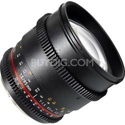 "85mm T1.5 ""Cine"" Portrait Lens for Nikon VDSLR"