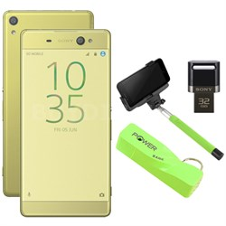 "Xperia XA Ultra 16GB 6"" Smartphone Unlocked Mobile Selfie Bundle - Lime Gold"