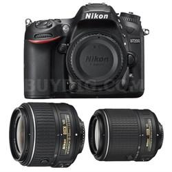 Refurbished D7200 DX 24.2MP DSLR Camera Kit w/ 18-55mm & 55-200mm VR II Lenses