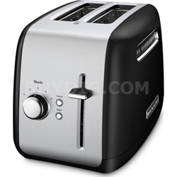 2-Slice Toaster with Manual Lift Lever in Onyx Black - KMT2115OB