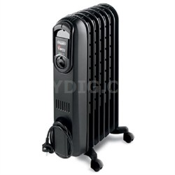 TRD0715T Safeheat 1500W Portable Oil-Filled Radiator Heater - Black - OPEN BOX