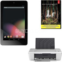 Nexus-7 1B32 Quad Core 32GB 7-inch Tablet + Adobe LR5 + Printer