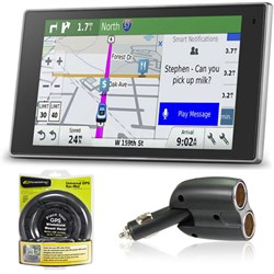 010-01531-00 DriveLuxe 50LMTHD GPS Navigator Charger + Dash Mount Bundle