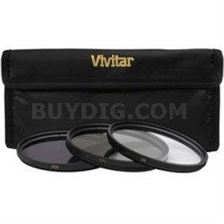 55mm UV Polarizer and FLD Deluxe Filter kit (set of 3 and carrying case)