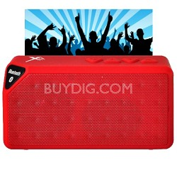 Bluetooth Rechargeable Speaker w/ Microphone - Red
