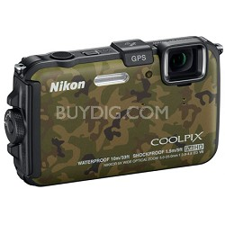 COOLPIX AW100 16MP Waterproof Shockproof Freezeproof Camouflage Digital Camera