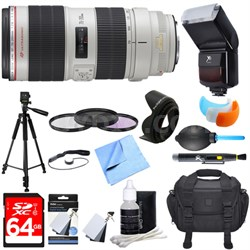 EF 70-200mm f/2.8L IS II USM Telephoto Zoom Lens Ultimate Accessory Bundle