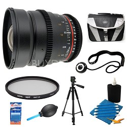 24mm T1.5 Aspherical Wide Angle Cine Lens and Filter Bundle for Nikon DSLR