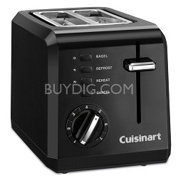 CPT-122 Compact 2-Slice Toaster (Black) - Factory Refurbished