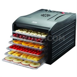 Professional 6 Tray Black Extra Large Electric Food Dehydrator