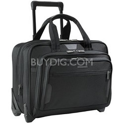 "@ Work Medium Expandable Rolling 15.6"" Laptop Briefcase - KR250X (Black)"