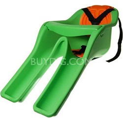 Safe-T-Seat w/ New Padded Front-Mounted Child Bicycle Seat   Green