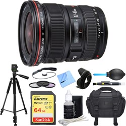 EF 17-40mm F/4 L USM Lens Deluxe Accessory Bundle