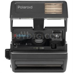 Polaroid 600 Square Camera - Black w/ Built-In Automatic Electronic Flash