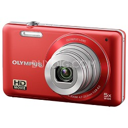 VG-120 14MP 5x Opt Zoom 3-inch LCD Digital Camera - Red