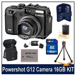 Powershot G12 Camera 16GB Bundle