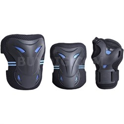 Multi Sport Protective Gear Knee Pads, Elbow Pads, and Wrist Guards - Teen/Youth