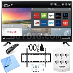 60LF6100 - 60-inch 120Hz Full HD 1080p Smart LED HDTV Mount & Hook-Up Bundle