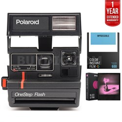 600 Instant Film Square Camera w/ Automatic Flash + Extended Warranty