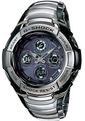 GW1200BA1A Atomic Timekeepeing G-Shock Watch with Stainless Steel Band