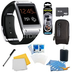 Jet Black Galaxy Gear Smartwatch Memory Bundle