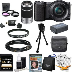 NEX-5TL Compact Interchangeable Lens Camera with 16-50mm and 55-210 Lenses