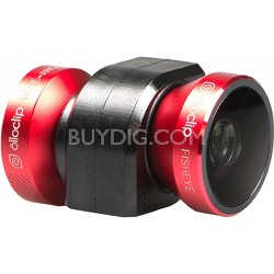 4-in-1 Lens for iPhone 4/4S, Red