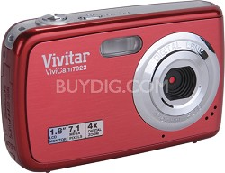 ViviCam 7022 7.1 MP Digital Camera (Strawberry)