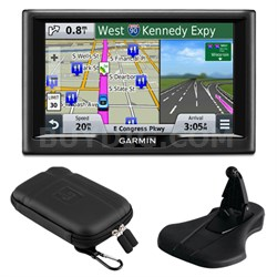 "nuvi 58 5"" Essential Series 2015 GPS System US & Canada Mount & Case Bundle"