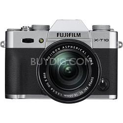 X-T10 Mirrorless Silver Digital Camera with XC16-50mm F3.5-5.6 OIS II Lens