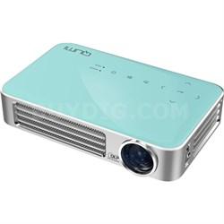 Qumi Q6 800 Lumen WXGA 720p HD LED Wireless Pocket Projector - Blue