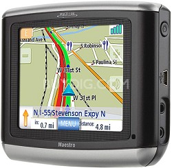"Maestro 3100 Portable Vehicle Navigation System w/ 3.5"" Bright LCD"
