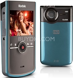 Zi8 Pocket 1080p Video Camera (Blue)