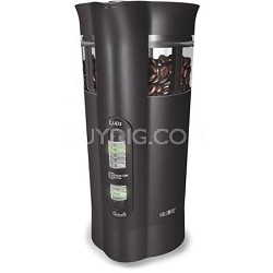 Electric Coffee Grinder with Chamber Maid Cleaning System (Black)