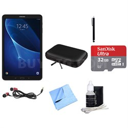Galaxy Tab A 16GB 10.1-inch Tablet w/ 32GB Card, Case & More Bundle - Black
