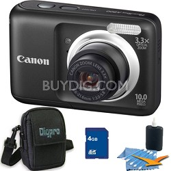 PowerShot A800 10MP Black Digital Camera 4GB Bundle