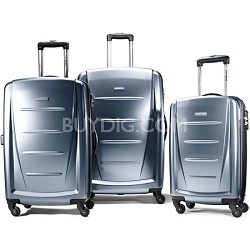 Winfield 2 3 Piece Roller Luggage Set (Blue Slate)
