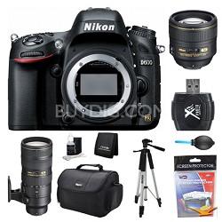 D600 24.3 MP CMOS FX-Format Digital SLR Camera Body 85 and 70-200mm Lens Kit