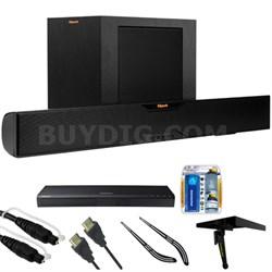 Bluetooth Soundbar With Wireless Subwoofer R-10B w/ HD Blu-ray Player Bundle