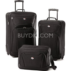 Fieldbrook II Three-Piece Luggage Set (Black)