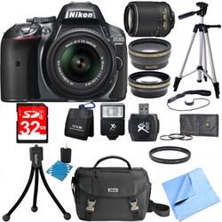 D5300 DX-Format Digital SLR Grey with 18-55mm + 55-200mm VR II Lens Bundle
