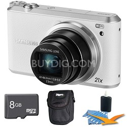 WB350 16.3MP 21x Opt Zoom Smart Camera White 8GB Kit